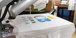 screen printing crown bath logo